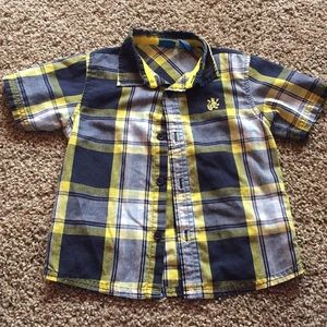 French Toast plaid short sleeve button up